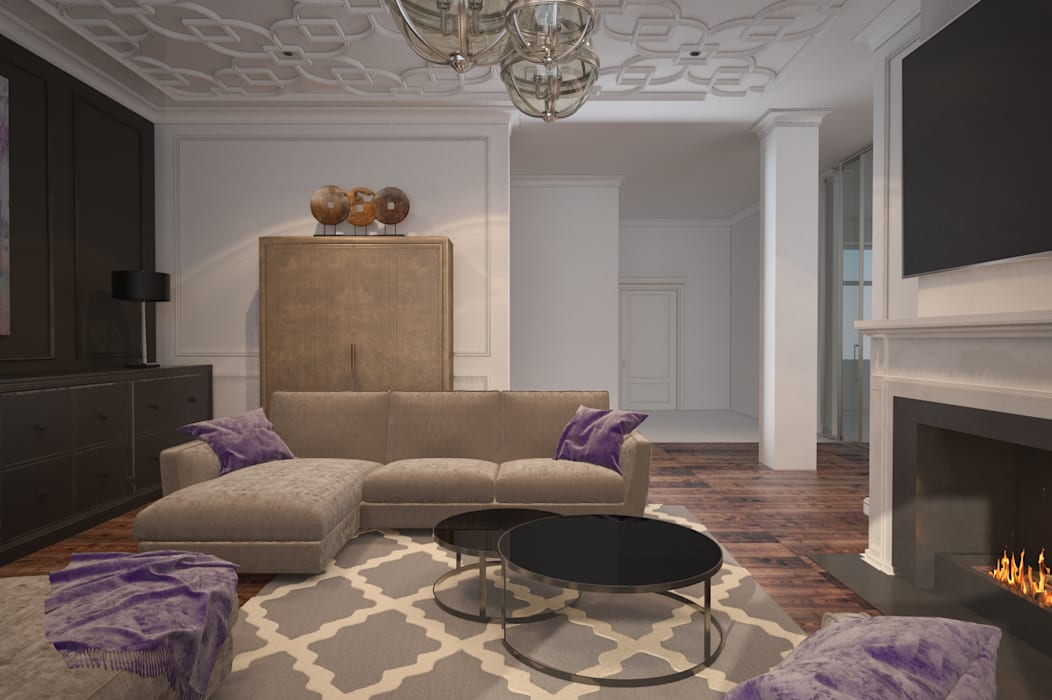 Living room decor 根據 U-Style design studio 簡約風