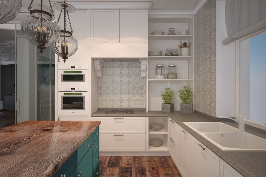 Кухня в стиле минимализм Кухня в стиле минимализм от U-Style design studio Минимализм