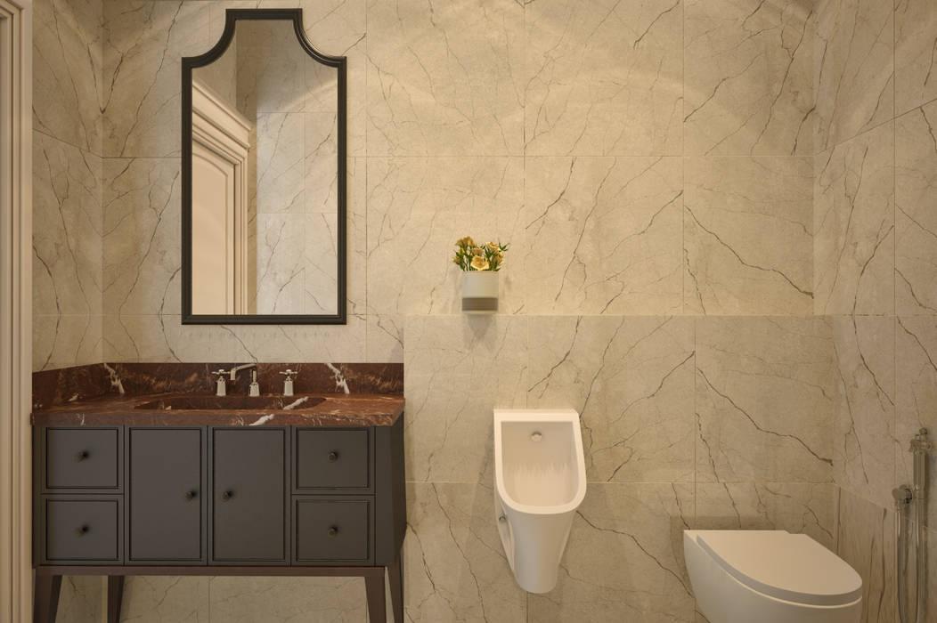 Minimalist bathroom 根據 YOUSUPOVA 簡約風