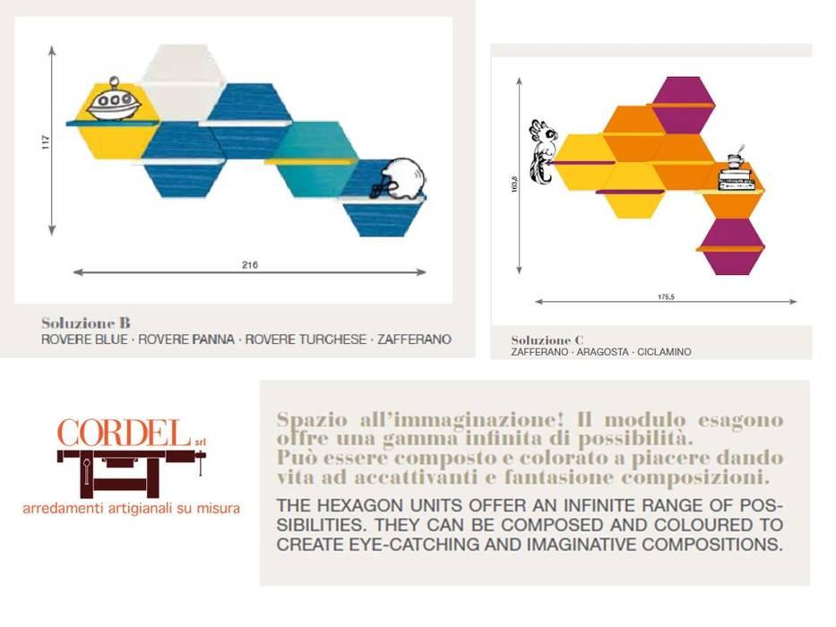 Mensole Colorate In Legno.Mensole Esagonali Di Cordel S R L Moderno Legno Effetto Legno