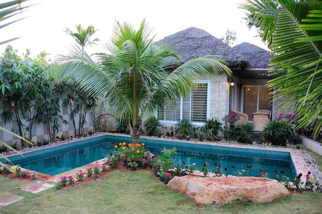 A Luxirious Thatched Villa iammies Landscapes Mediterranean style garden