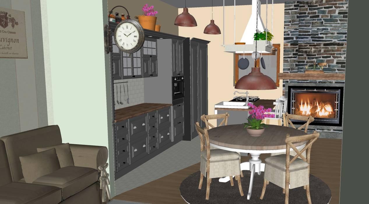 Sala Da Pranzo Shabby Chic : Appartamento stile shabby chic rustico sala da pranzo in stile di