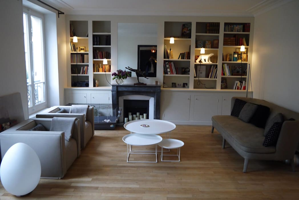 Agence Laurent Cayron Ruang Keluarga Modern