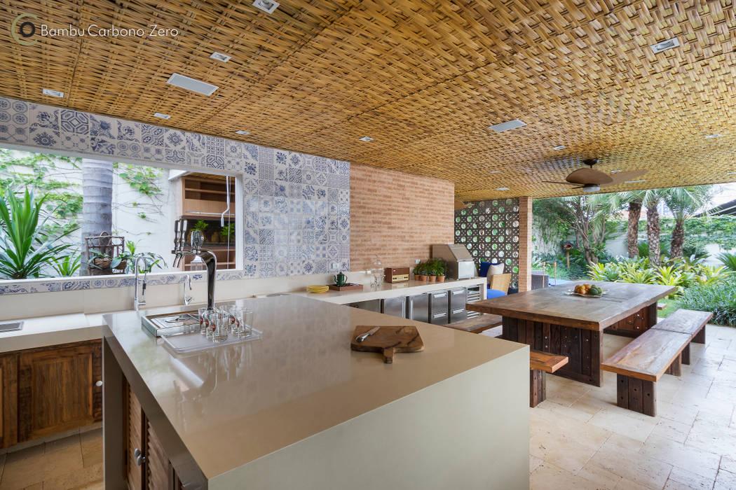Cucina in stile in stile rustico di bambu carbono zero | homify