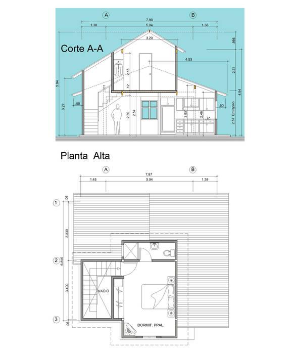 Proyecto de vivienda 2 niveles Casas modernas de INVERSIONES NACSE S.A.S. Moderno