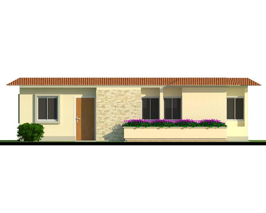 Fachada tipo de vivienda: Casas de estilo  por INVERSIONES NACSE S.A.S.