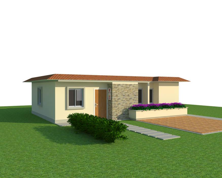 Vista 3D: Casas de estilo  por INVERSIONES NACSE S.A.S., Moderno