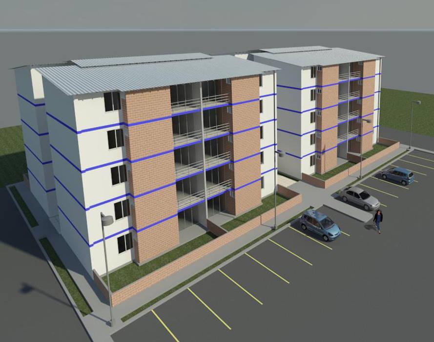 Render externo Balcones y terrazas de estilo moderno de INVERSIONES NACSE S.A.S. Moderno