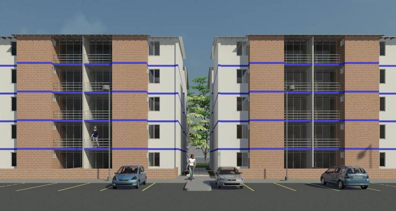 vista en fachada Balcones y terrazas de estilo moderno de INVERSIONES NACSE S.A.S. Moderno