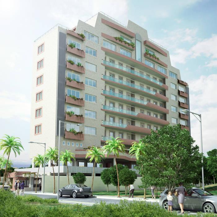 Vista 3D Casas modernas de INVERSIONES NACSE S.A.S. Moderno