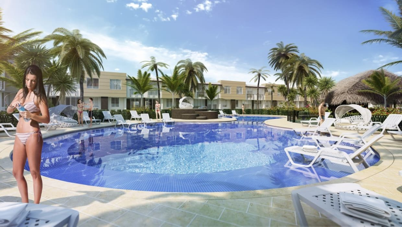 Vista piscina Piscinas de estilo moderno de INVERSIONES NACSE S.A.S. Moderno