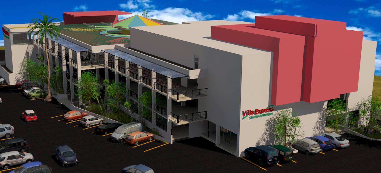 Vista 3D Centro comercial Paredes y pisos de estilo moderno de INVERSIONES NACSE S.A.S. Moderno