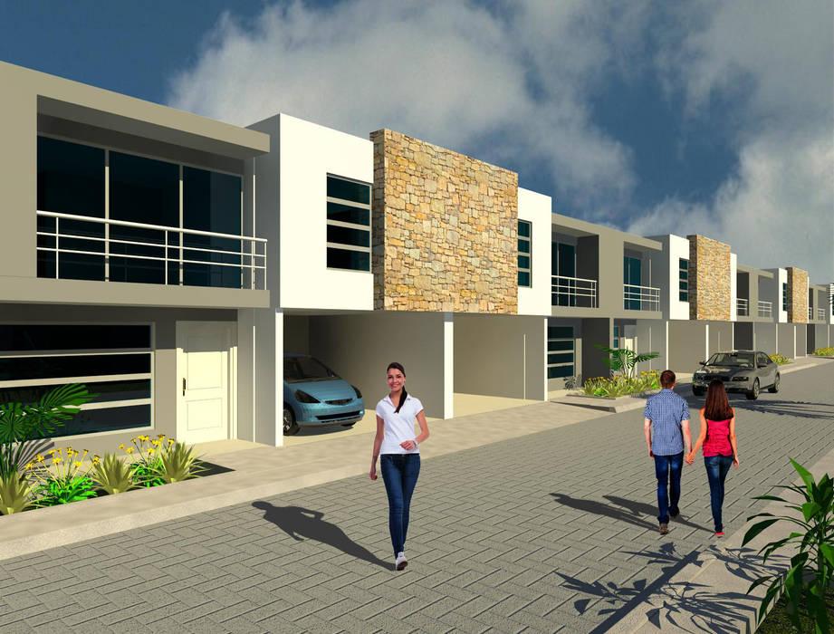Desarrollo habitacional continuo: Casas de estilo  por INVERSIONES NACSE S.A.S.