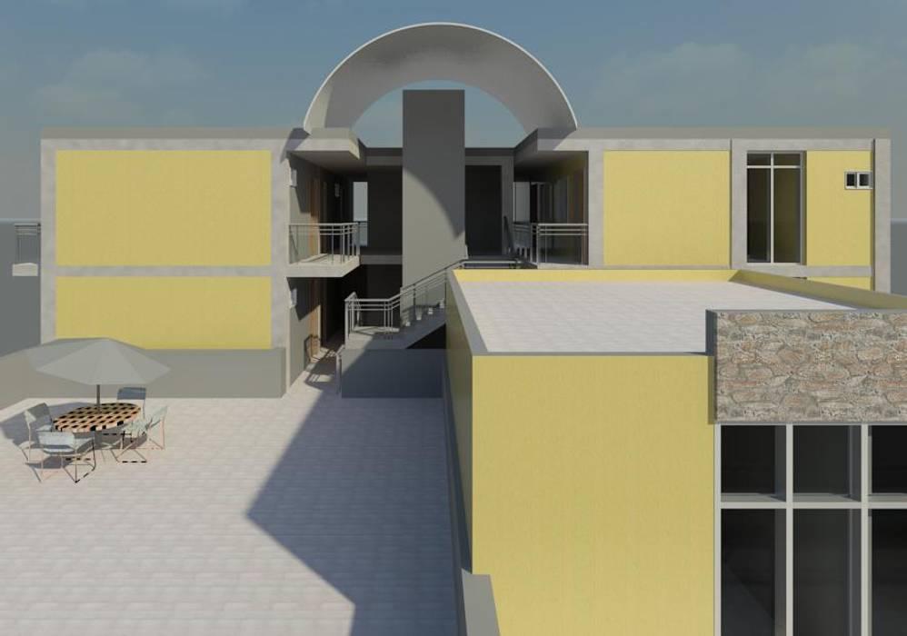 Hotel Balcones y terrazas de estilo moderno de INVERSIONES NACSE S.A.S. Moderno