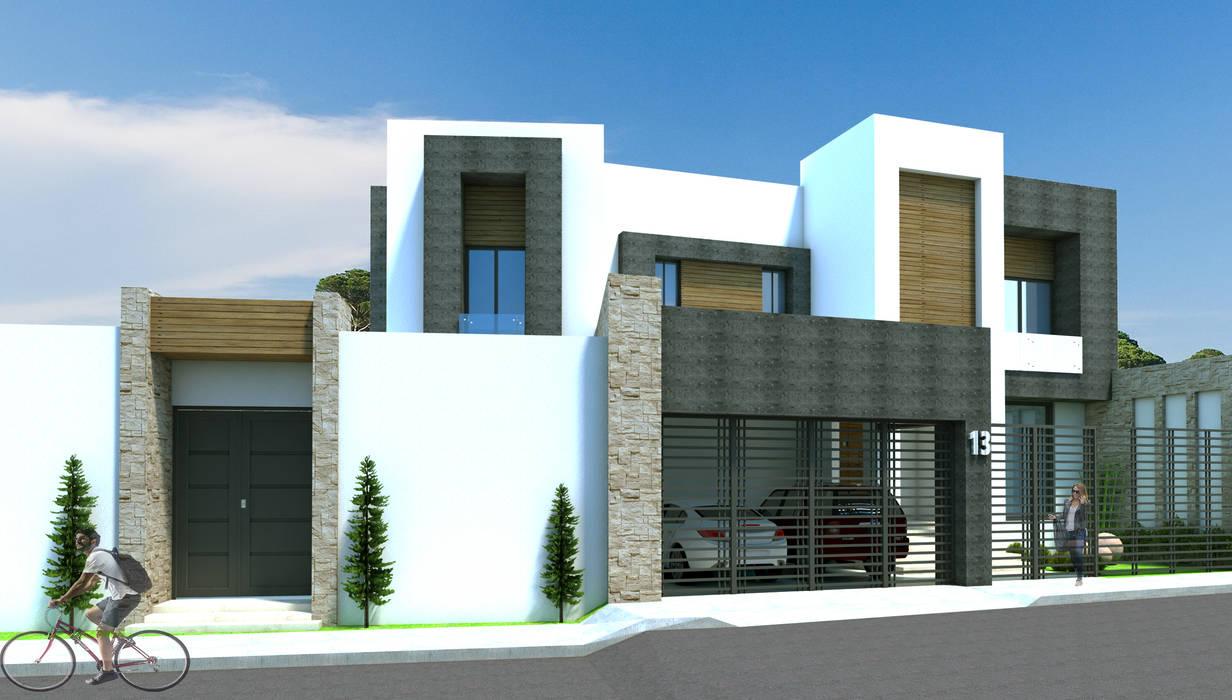 Casas de estilo  por Acrópolis Arquitectura, Moderno Piedra