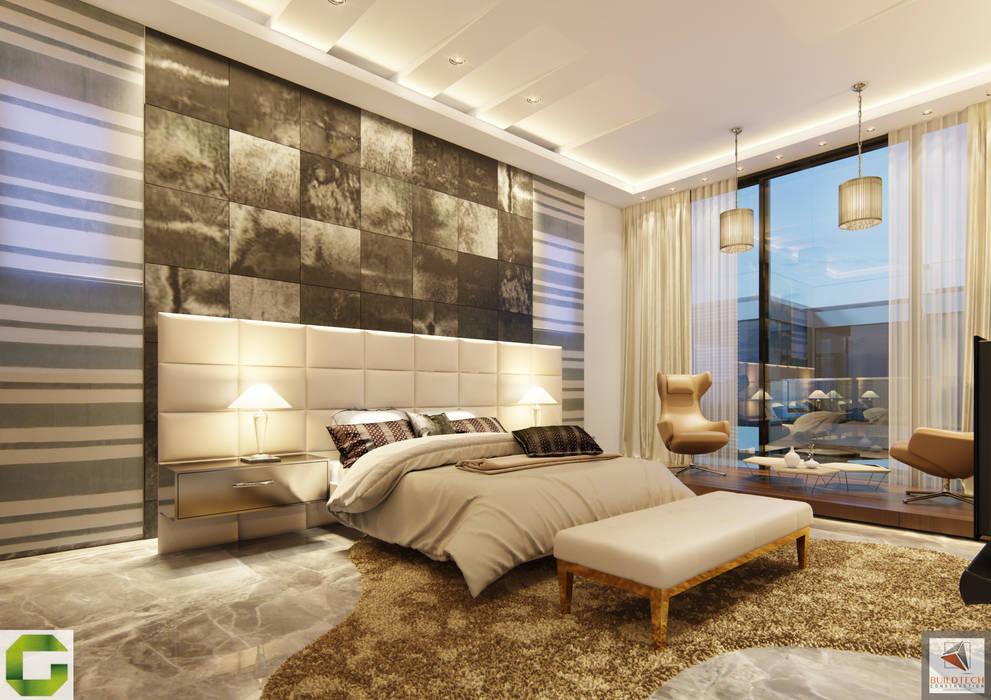 24000 sqft (2230 sqm) double Villa in Dubai:  Bedroom by Aum Architects