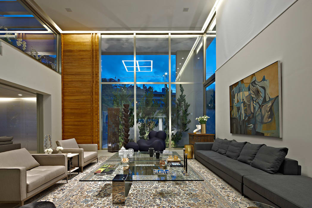 Paulo Henrique Modern Living Room by Lanza Arquitetos Modern