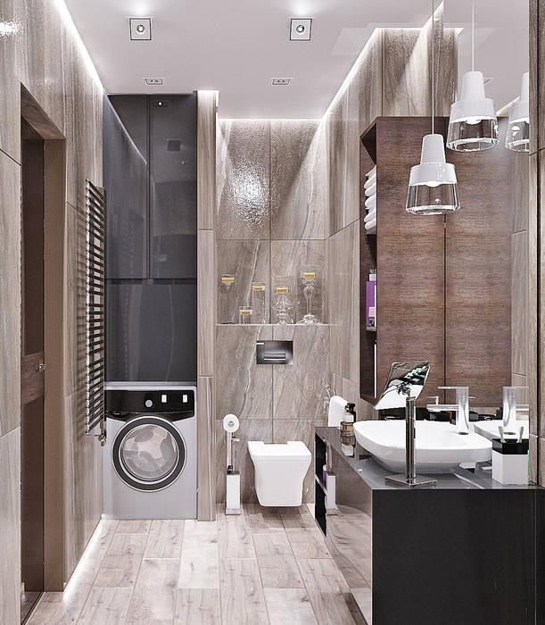 浴室 by Студия дизайна Interior Design IDEAS, 工業風