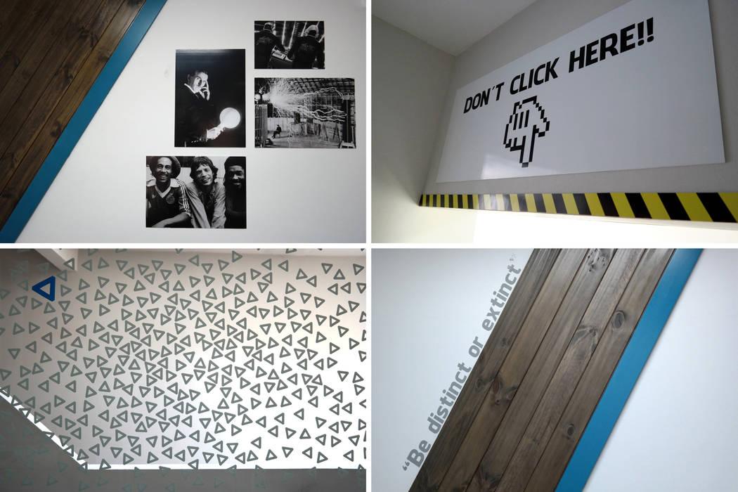 diseño de oficinas • REKKET Oficinas y comercios de estilo moderno de Estudio Cebra Moderno