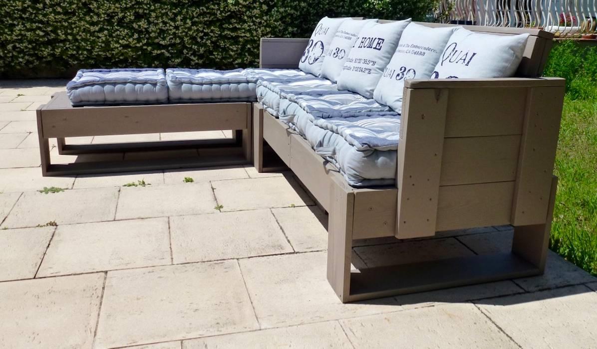 Salon de jardin en palettes modulable: balcon, veranda & terrasse de ...