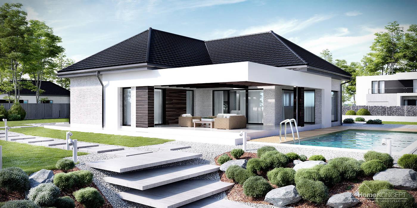 Projekt domu HomeKONCEPT-32: styl , w kategorii Domy zaprojektowany przez HomeKONCEPT   Projekty Domów Nowoczesnych