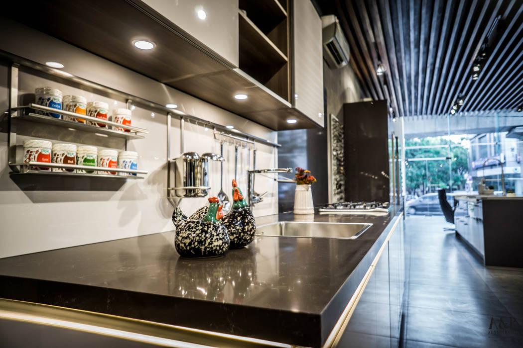 Hyderabad Showroom: modern  by Hacker Kitchen,Modern