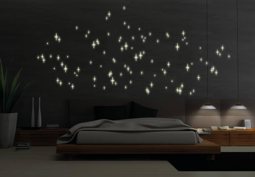 Leuchtsterne romantischer sternenhimmel: schlafzimmer von k&l wall ...