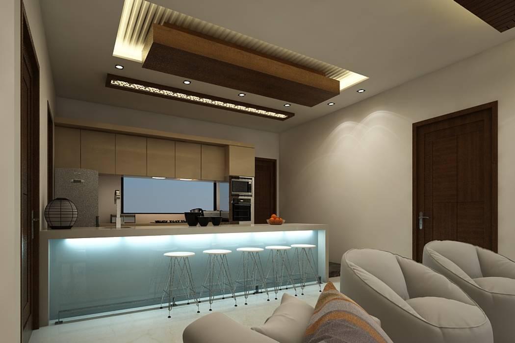 lobby A Mans Creation Modern style kitchen