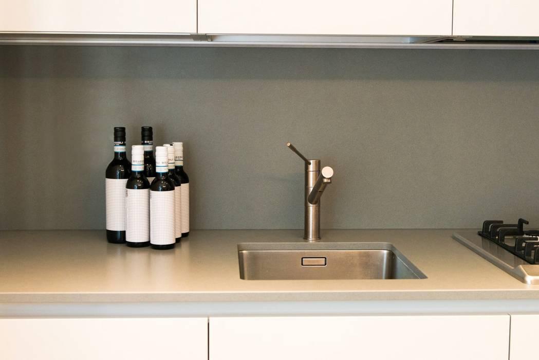 Dettaglio Cucina PADIGLIONE B Cucina moderna Ardesia Grigio