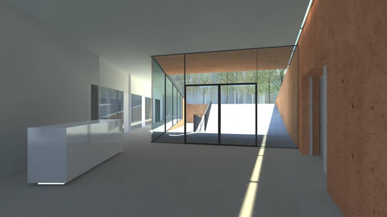 Centro Paroquial de Aguim Janelas e portas minimalistas por Lousinha Arquitectos Minimalista