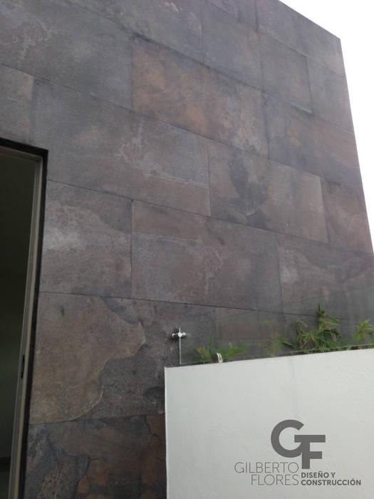 Detalle Acabado en Muro Paredes y pisos de estilo moderno de GF ARQUITECTOS Moderno