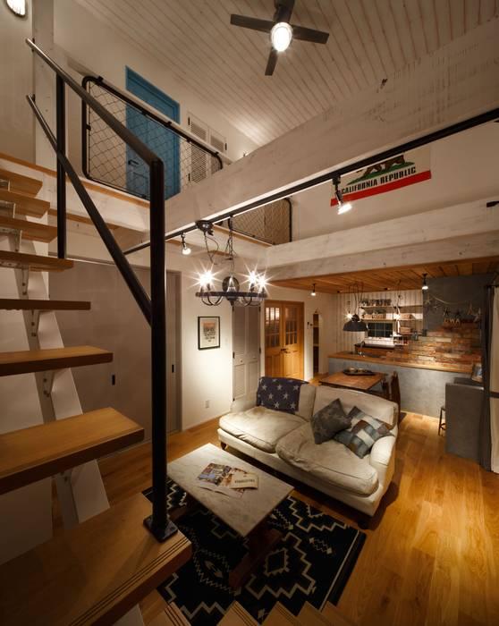 Industrial corridor, hallway & stairs by dwarf Industrial