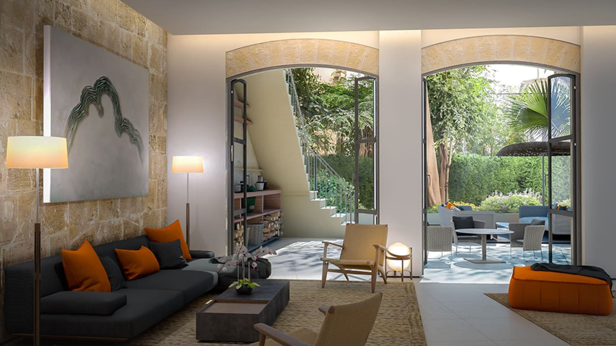 Sitting area:   by 4D Studio Architects and Interior Designers,
