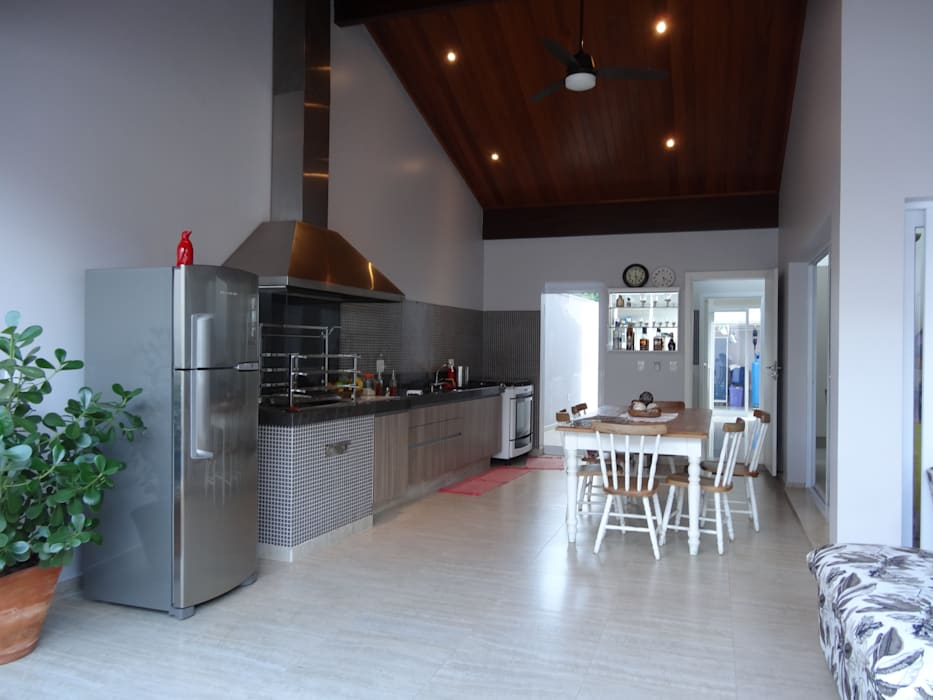 Casa SVJ Lozí - Projeto e Obra Varandas, alpendres e terraços modernos