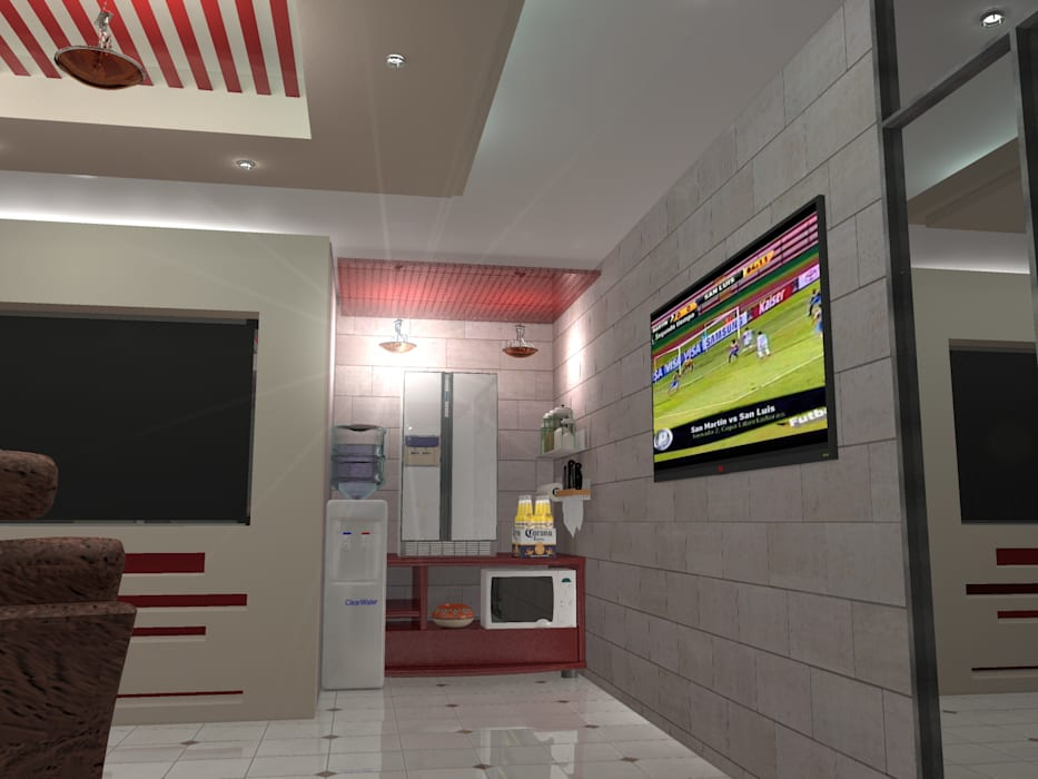 Interior 5: Salones para eventos de estilo  por HC Arquitecto