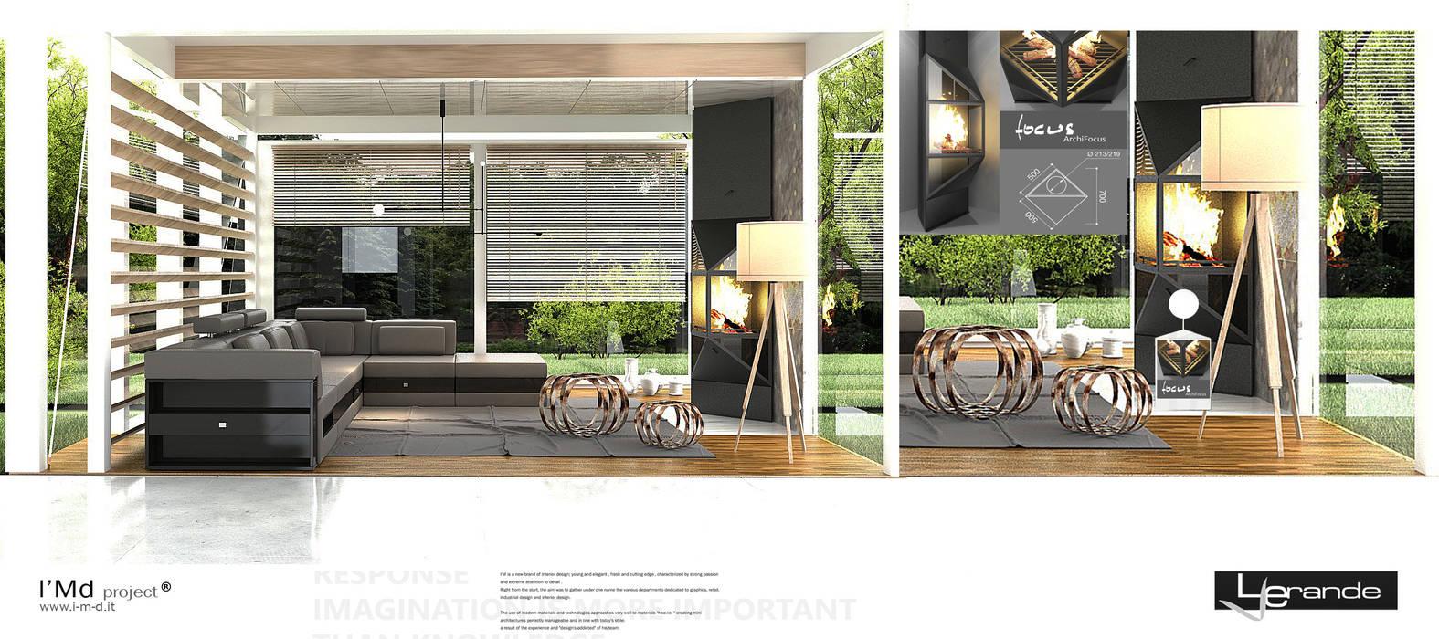 live 360: Giardino d'inverno in stile in stile Minimalista di Le Verande srls
