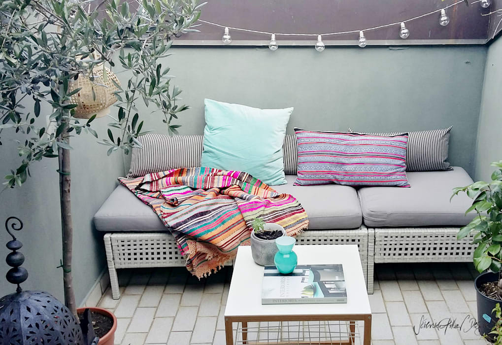 urban oasis: Terrasse de style  par Severine Piller Design LLC