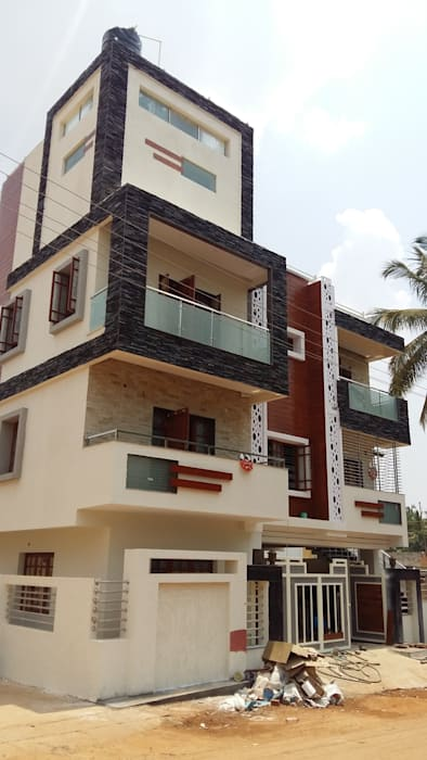 Exterior facade: houses by cutting edge architects | homify
