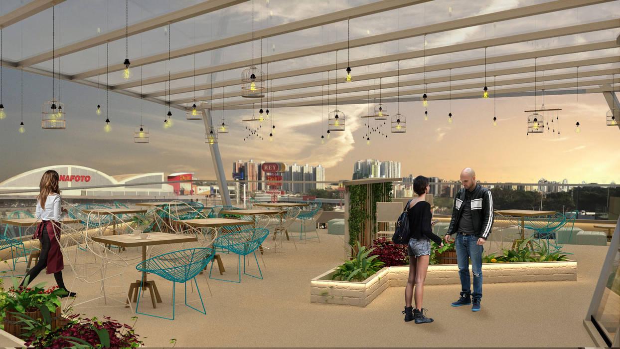 Rustica Market: Restaurantes de estilo  por NOGARQ C.A., Rústico