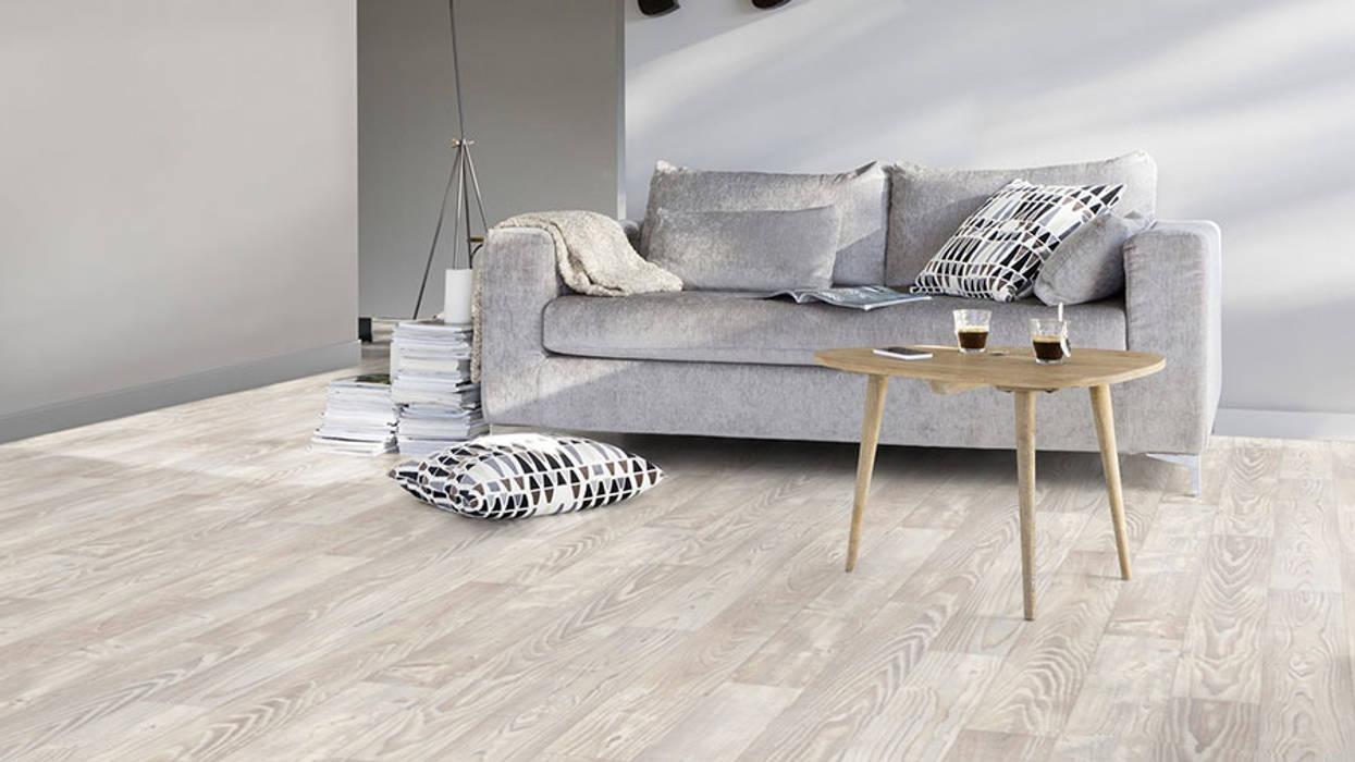 pavimento pvc: soggiorno in stile in stile moderno di tucommit | homify