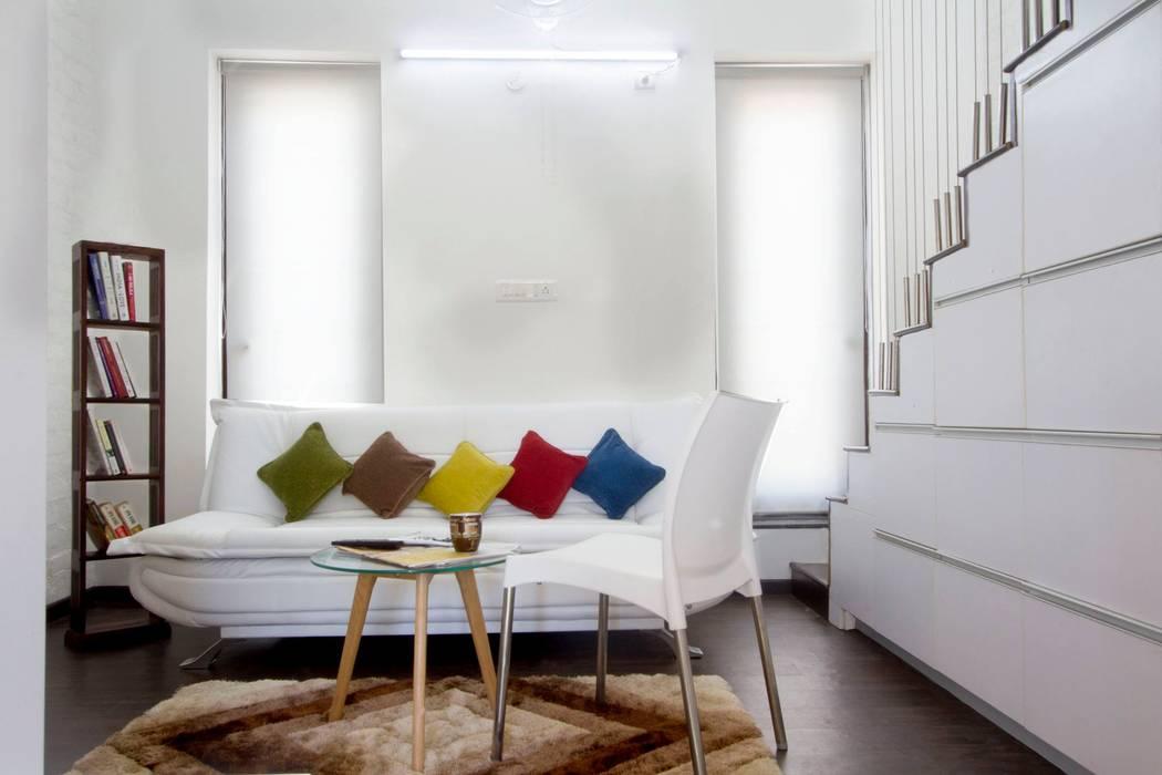 The Living Area Minimalist living room by Urban Shaastra Minimalist