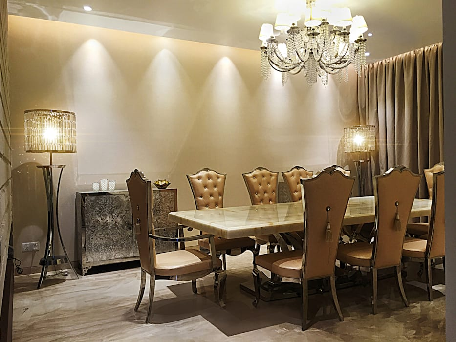 Formal Dining room Modern dining room by 23DC Architects Modern