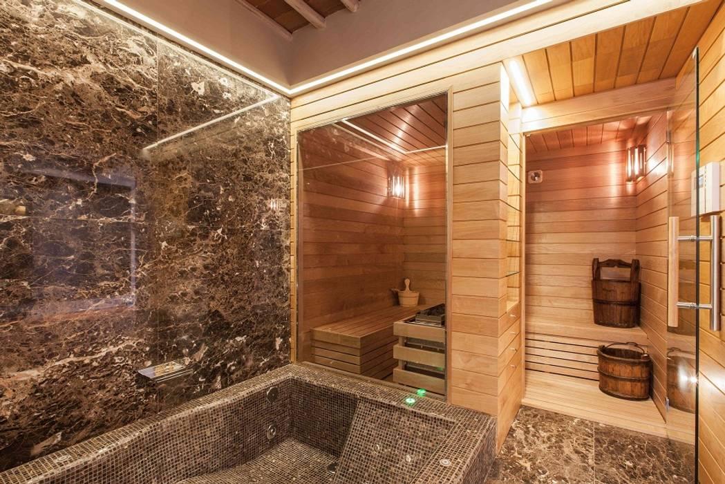 Sauna Finlandese : Spa in stile in stile Classico di ki life  Wellness Operator