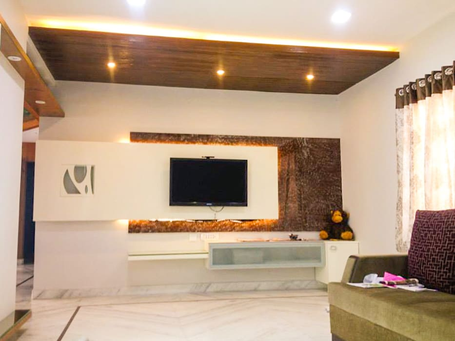 The TV Unit Urban Shaastra Modern living room