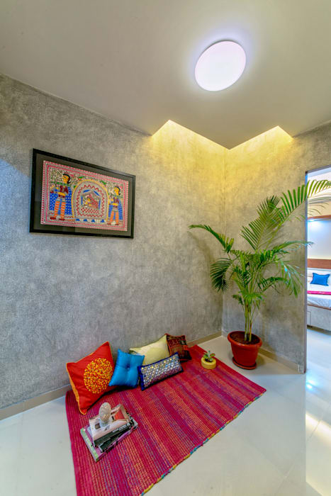 Saar Interior Design Eclectic style corridor, hallway & stairs Multicolored