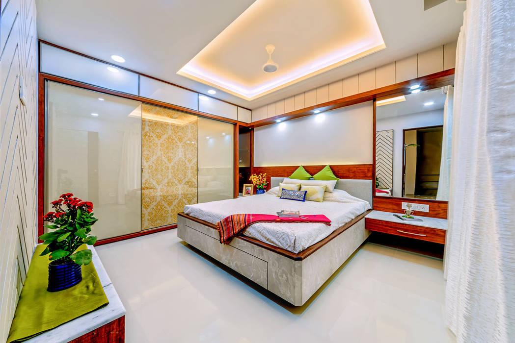 Bedroom Saar Interior Design Eclectic style bedroom Multicolored