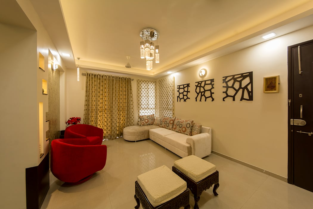 Living Room Modern living room by Navmiti Designs Modern