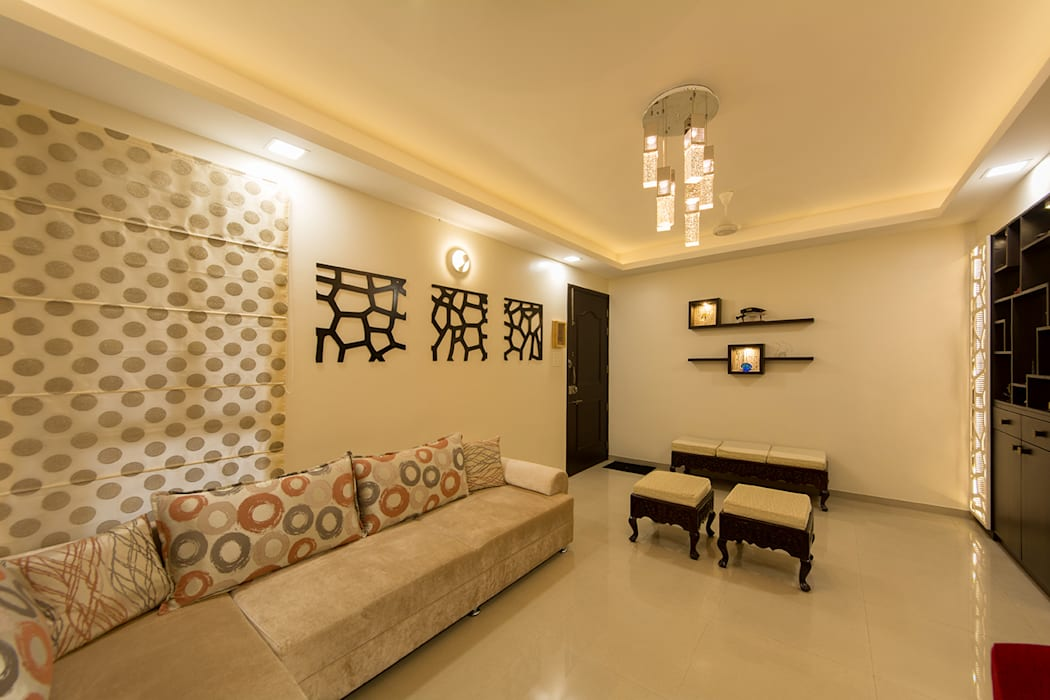Living room Modern walls & floors by Navmiti Designs Modern