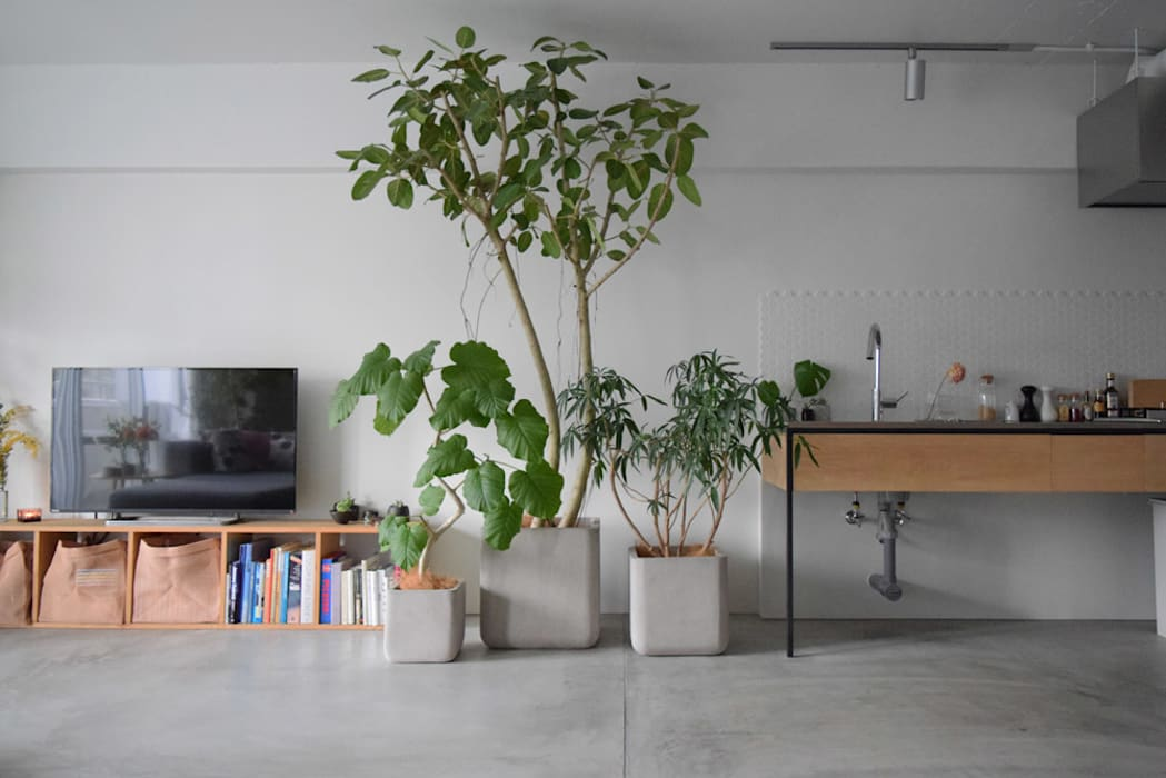 MORTAR POT nuリノベーション Minimalist living room