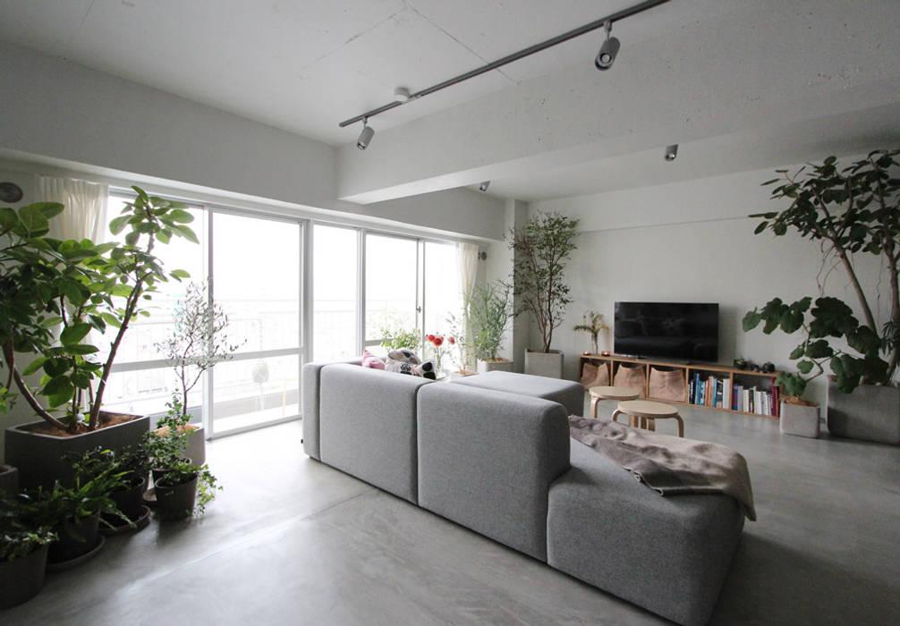 MORTAR POT nuリノベーション Minimalist living room